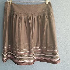 Apostrophe full skirt,  grey with ribbon embellish